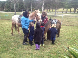 Checking out the ponies.